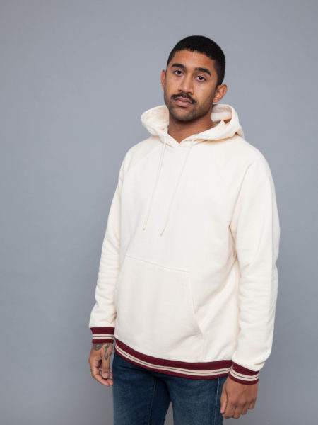 Drole de Monsieur 520 Hem Striped Hoodie Beige sales