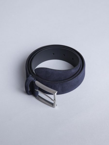 Andersons Suede Belt Navy leather