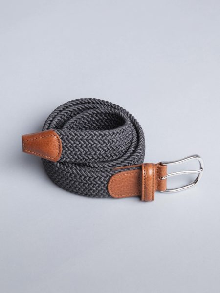 Andersons Woven Stretch Belt Dark Grey