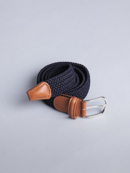 Andersons Woven Stretch Belt Navy