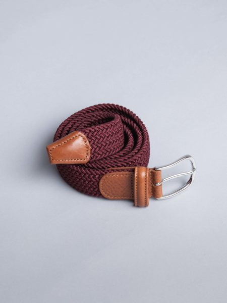 Andersons Woven Stretch Belt Red