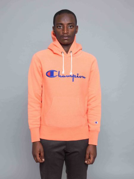 d2572a9b5cd Champion Logo Hoodie Peach • Centreville Store in Brussels