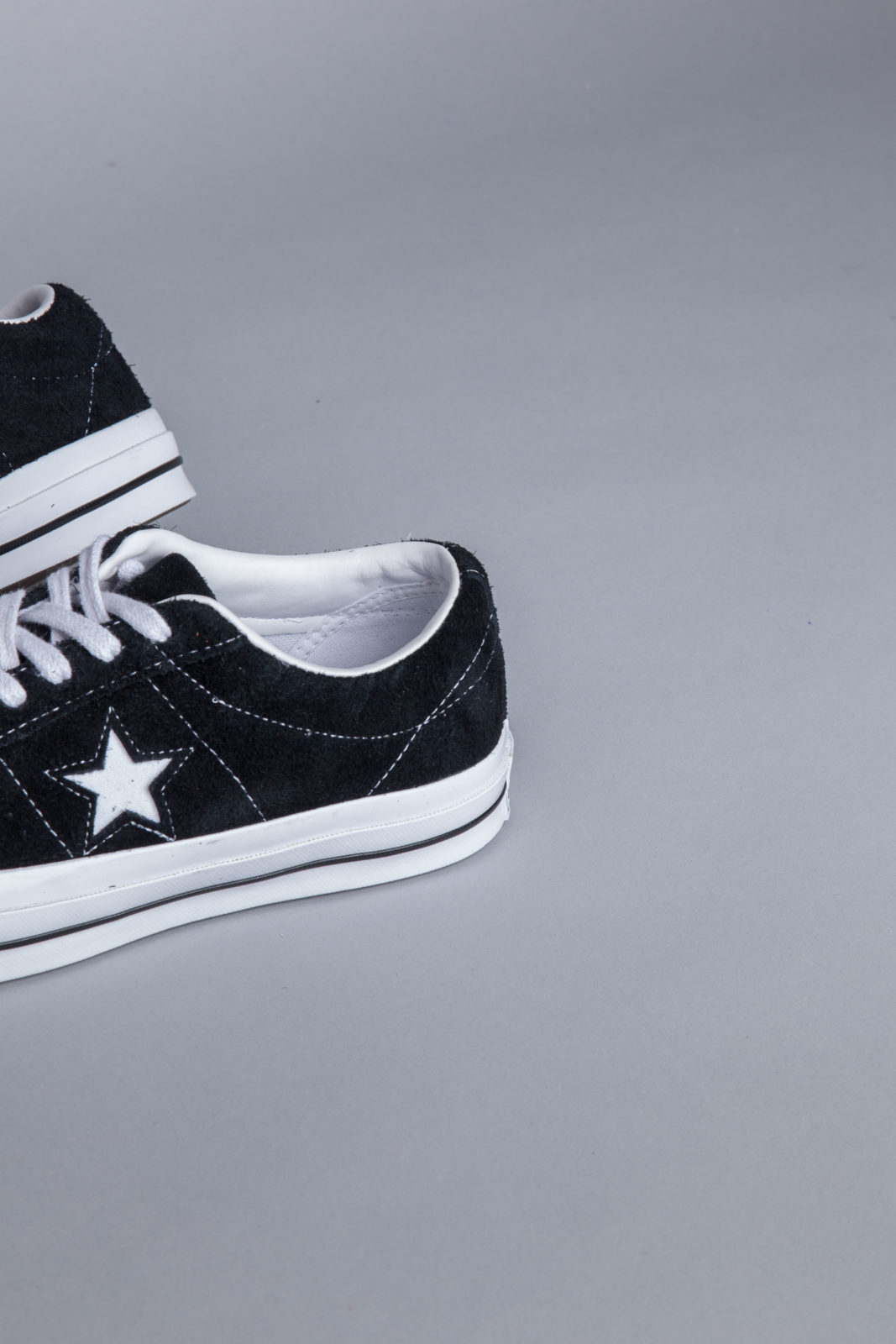 5367da681a17 Converse One Star OX Black Sneakers • Centreville Store