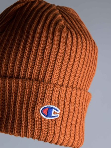 c685fc8402af4 Champion Logo Beanie Brown • Centreville Store in Brussels