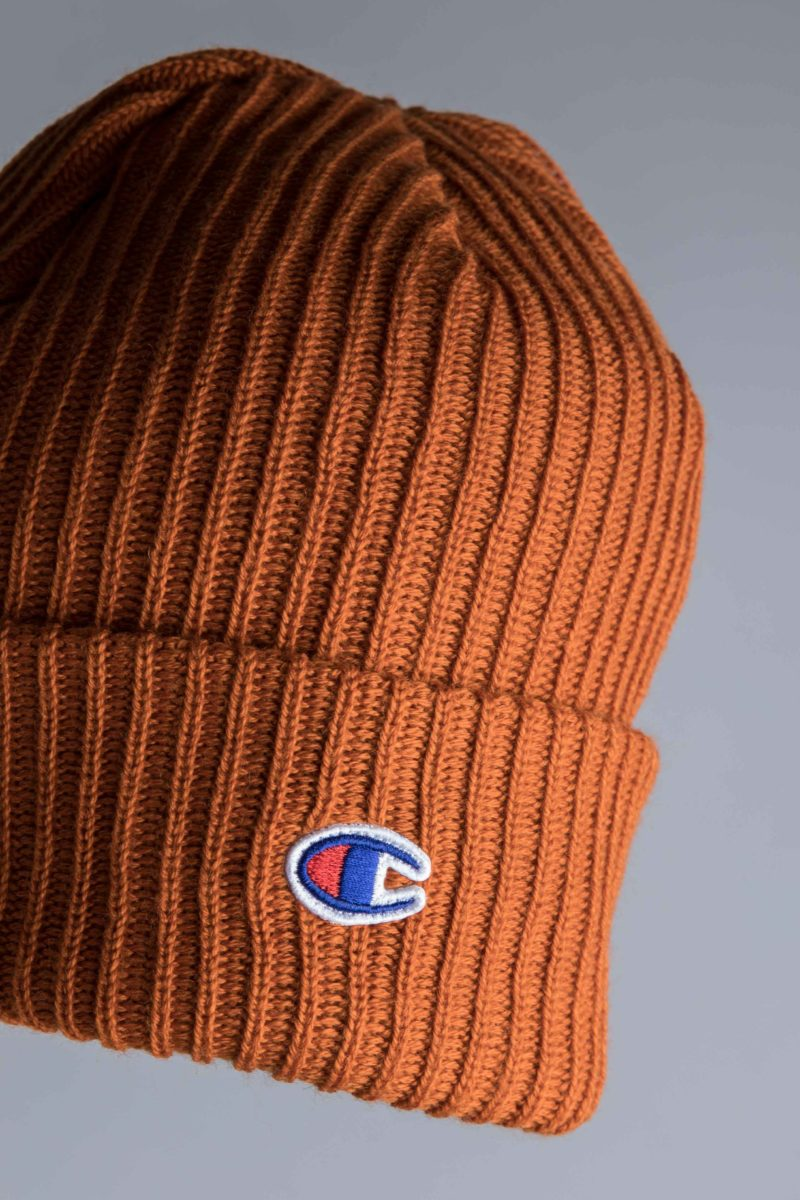 Champion Logo Beanie Brown Centreville Store In Brussels