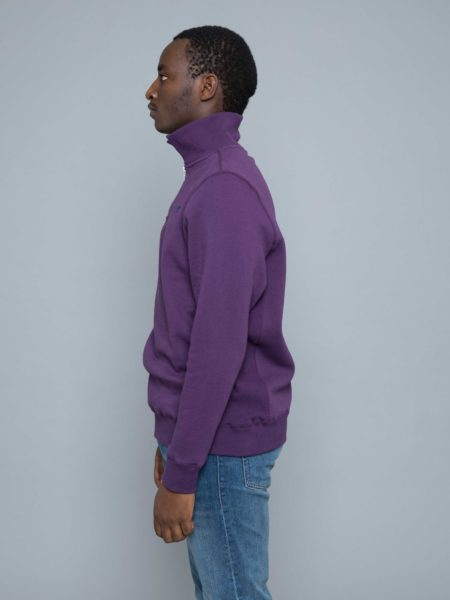 Russel Athletic Keith Zip Polo Sweat Navy Cosmos