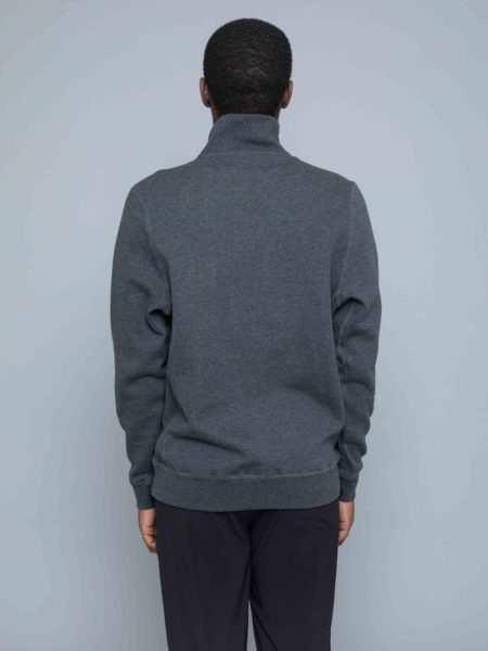 Russel Athletic Keith Zip Polo Sweat charcoal