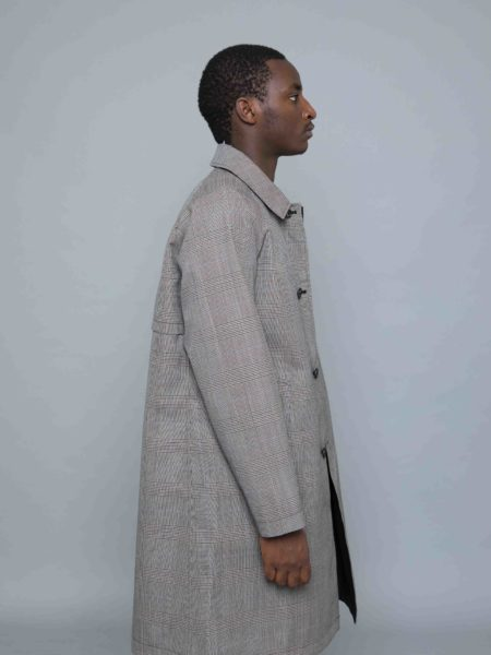 Still By Hand Reversible Coat grey