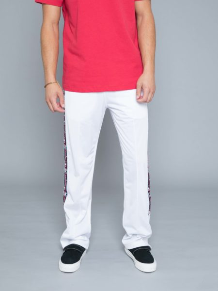 Champion Buttons Track Pants White