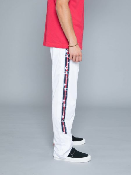 Champion Buttons Track Pants White hoodie