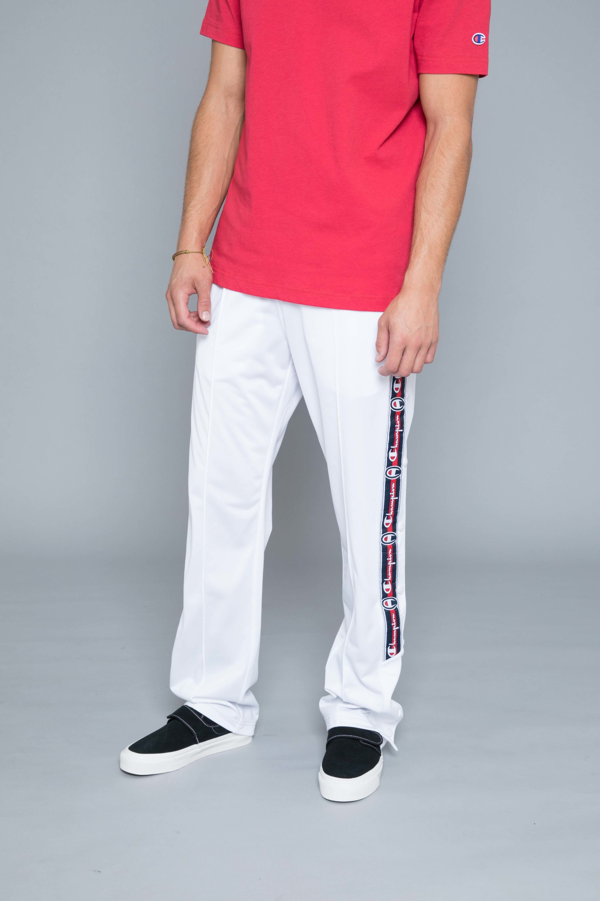 11bd9bf9 Champion Buttons Track Pants White • Centreville Store in Brussels
