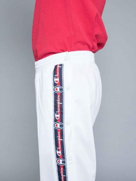 Champion Buttons Track Pants White sweatshirt
