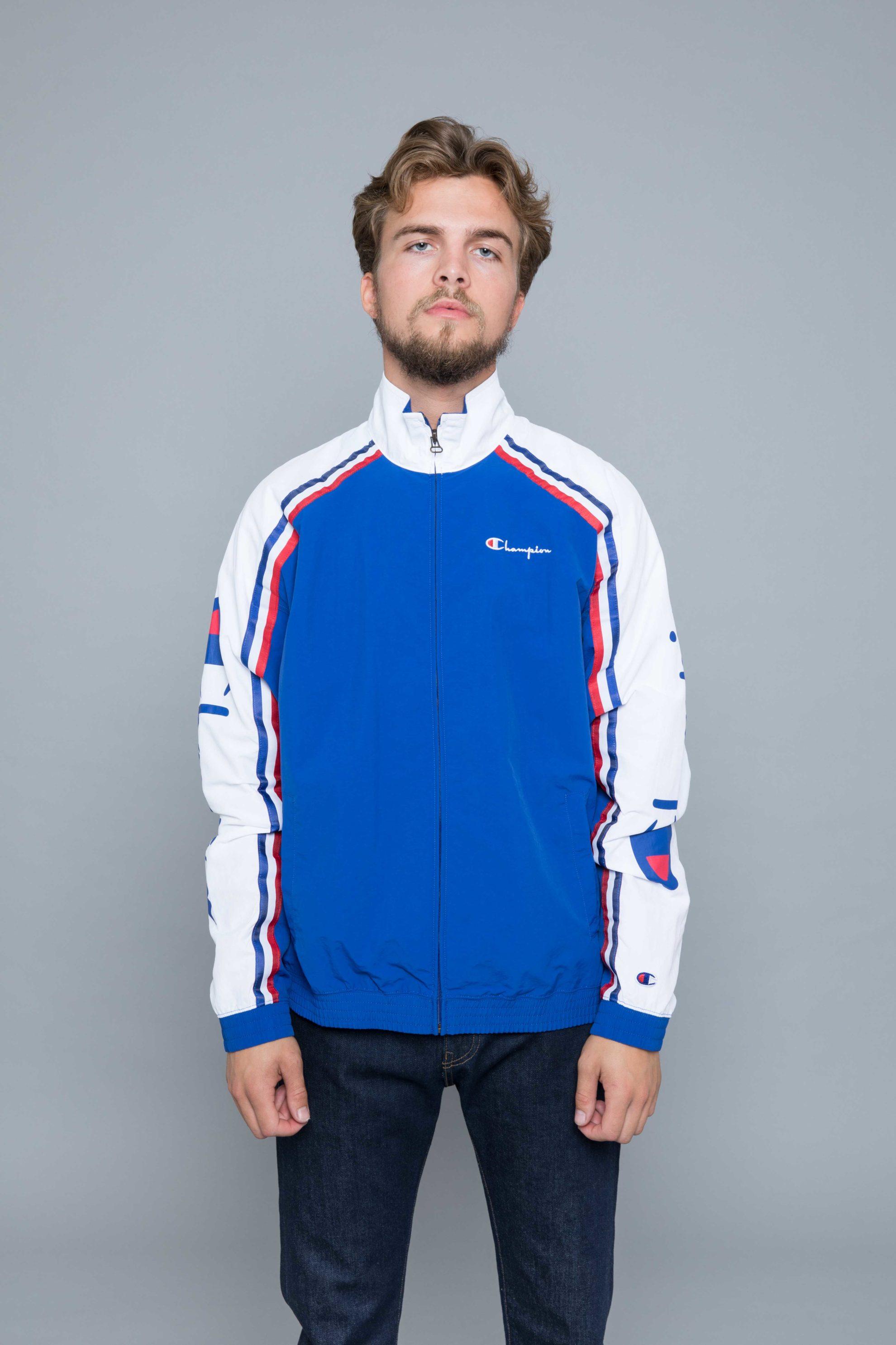 94688bdeb Champion Track Jacket Raglan Blue • Centreville Store in Brussels