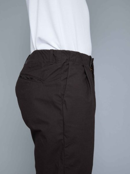 Still By Hand Relax In-tuck Pants brown