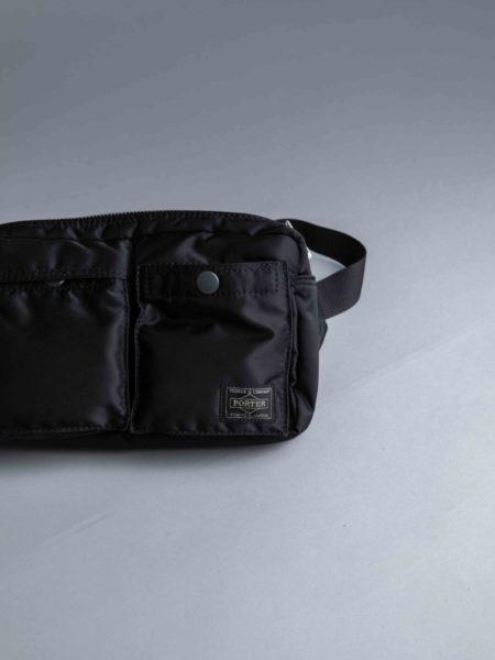 Porter Yoshida Waist Bag Black head porter