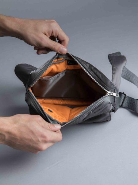 Porter Yoshida Waist Bag Silver Grey