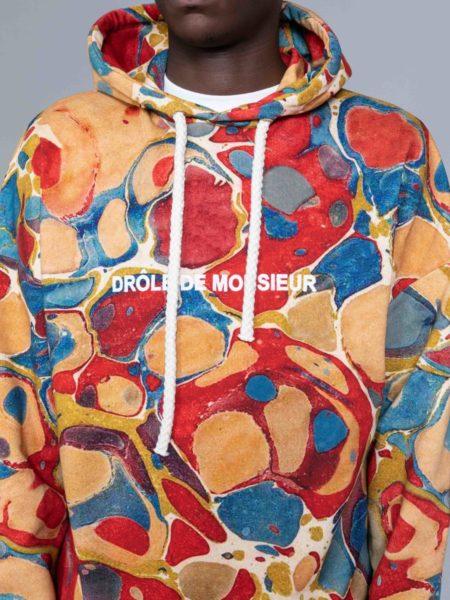Drole de Monsieur Marbled Hoodie shop