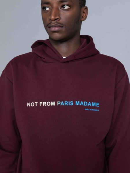 Drole de Monsieur Shaded Slogan Hoodie