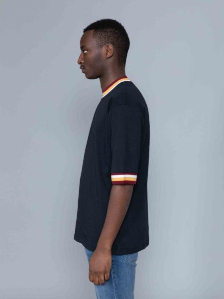 Drole de Monsieur Striped Collard T-shirt sale