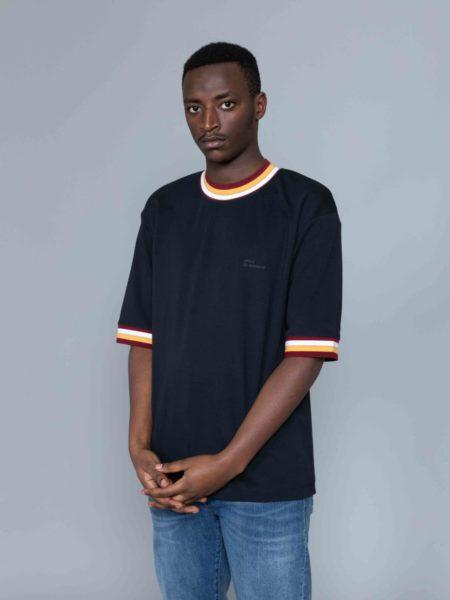 Drole de Monsieur Striped Collard T-shirt shop