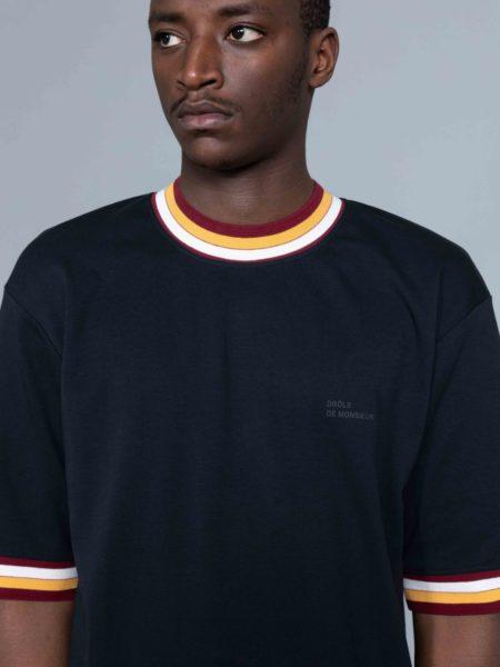 Drole de Monsieur Striped Collard T-shirt store