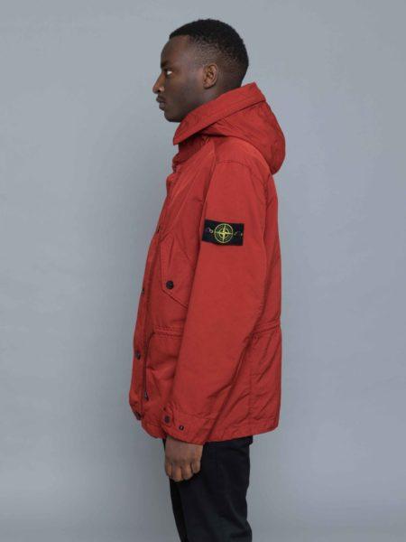 Stone Island David TC Parka Jacket Brick Red sweatshirt