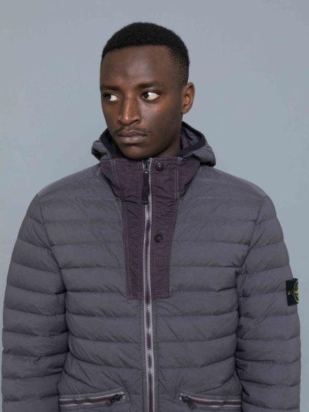 Stone Island Loom Woven Down Stretch Nylon Jacket sale