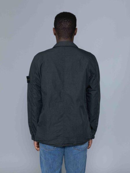 Stone Island Zip Overshirt Charcoal crewneck