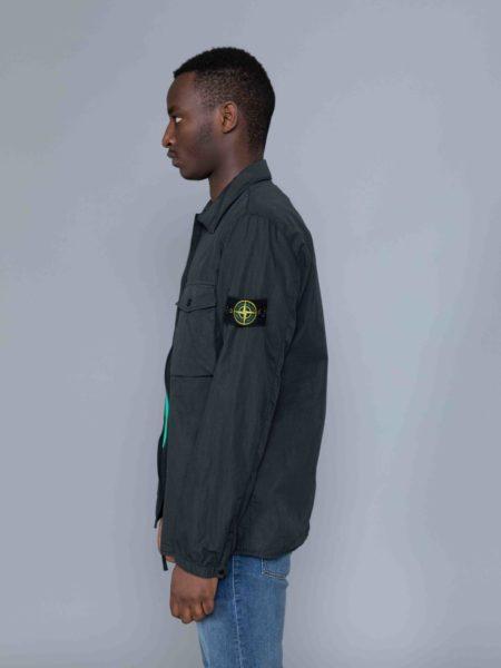 Stone Island Zip Overshirt Charcoal jacket