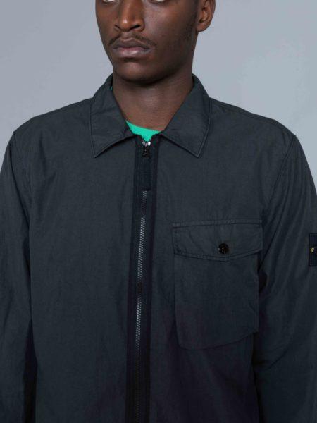 Stone Island Zip Overshirt Charcoal sweatshirt