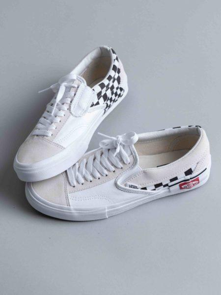 Vans Slip-on Cap LX White Checkerboard sneakers