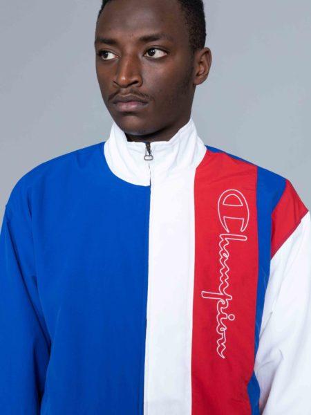 Champion Colour Block Track Jacket Blue reverse weave