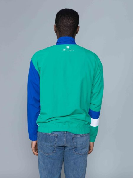 Champion Colour Block Track Jacket Green brussels