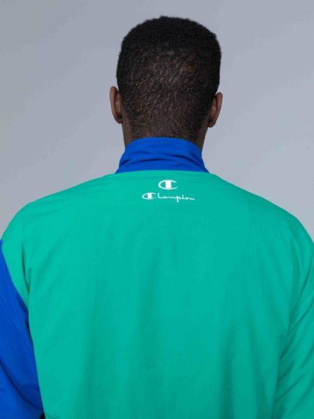 Champion Colour Block Track Jacket Green crewneck