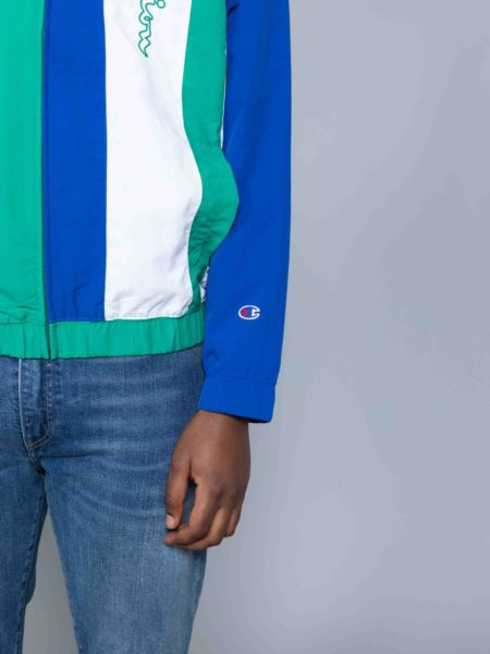 Champion Colour Block Track Jacket Green reverse weave