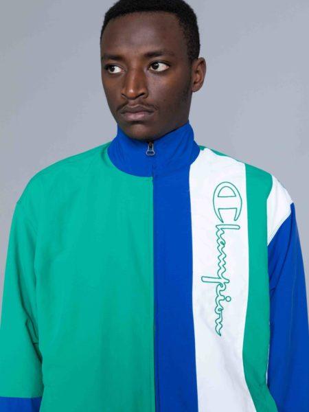 Champion Colour Block Track Jacket Green shop