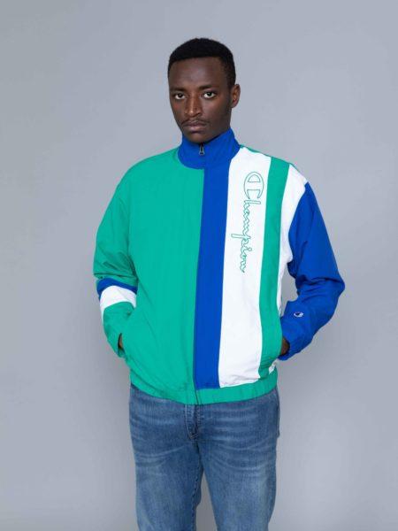 Champion Colour Block Track Jacket Green store