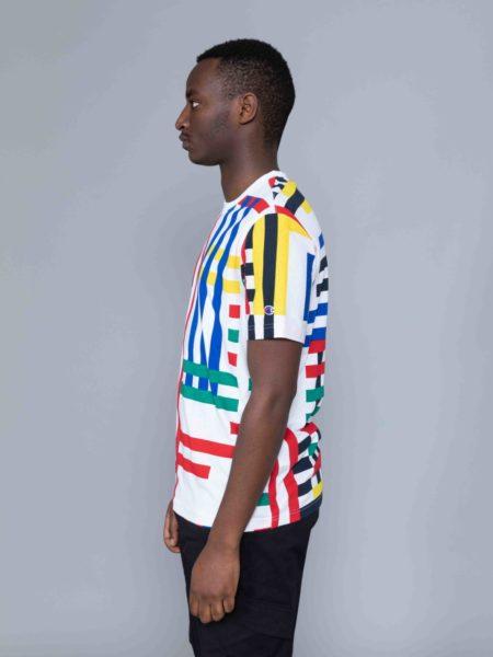 Champion Multi Check Tshirt Colored crewneck
