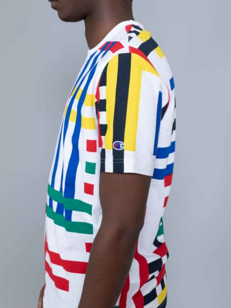 Champion Multi Check Tshirt Colored reverse weave