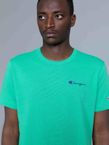 Champion Small Logo Tshirt Kelly Green reverse weave