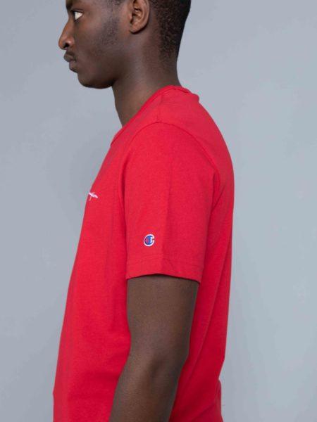 Champion Small Logo Tshirt Red crewneck