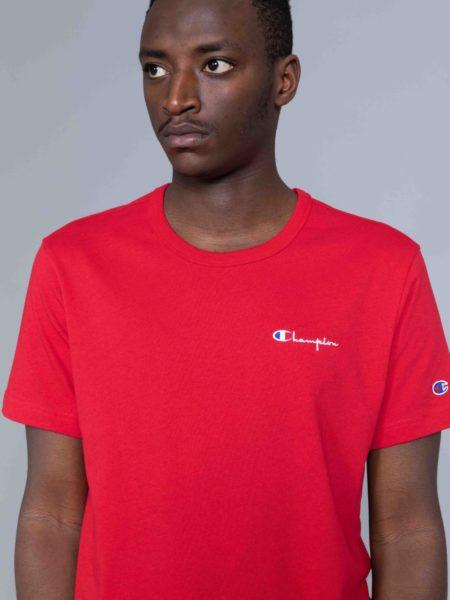 Champion Small Logo Tshirt Red reverse weave