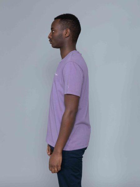 Champion Small Logo Tshirt Washed Purple reverse weave