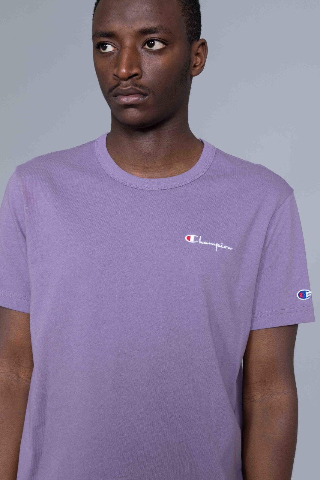 78e44fd0b63 Champion Small Logo Tshirt Washed Purple • Centreville Store in Brussels