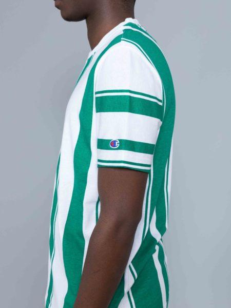 Champion Stripes Tshirt Green
