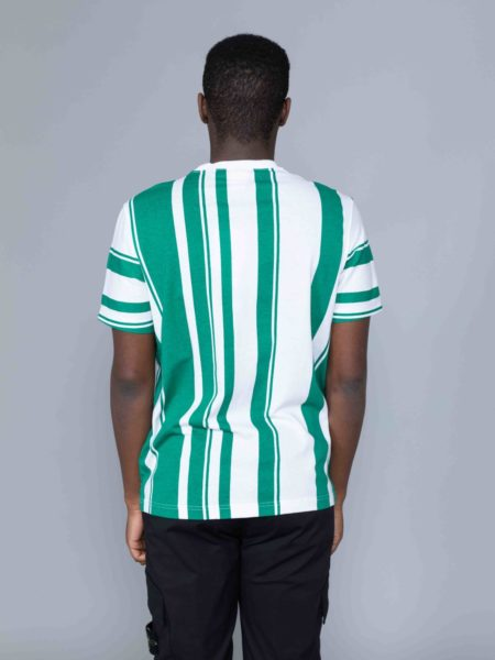 Champion Stripes Tshirt Green script