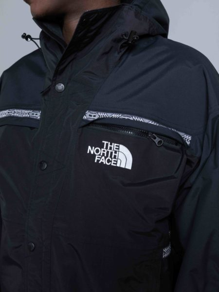 The North Face 92 Retro Rage Rain Jacket black fleece
