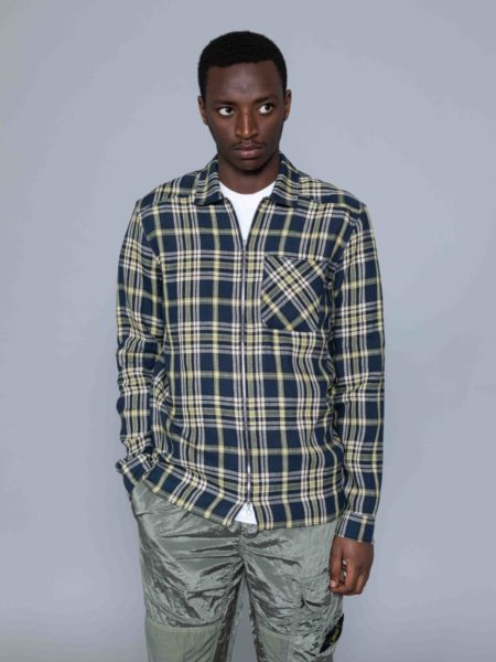A Kind of Guise Delon Overshirt blue check