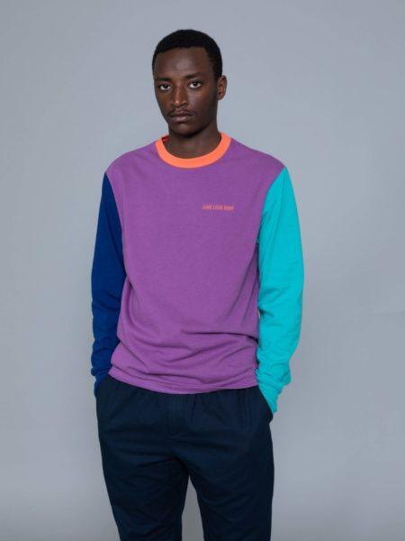 Aime Leon Dore Long Sleeve Colors Blocked Logo Purple brussels