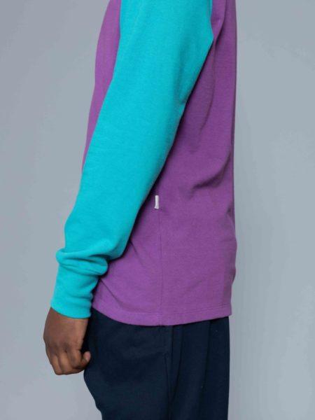 Aime Leon Dore Long Sleeve Colors Blocked Logo Purple online store